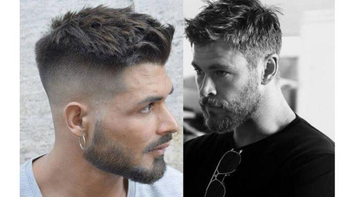 Cortes de cabelo masculino com topete discreto.