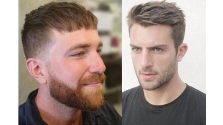 Corte de cabelo caesar alto.