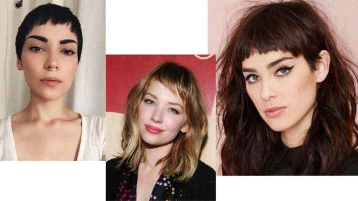 Corte de cabelo curto feminino: Franja assimétrica.