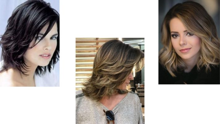 Corte de cabelo curto feminino em camadas.