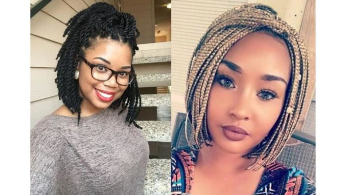 As tranças afro no comprimento chanel costumam ser uma opção para quem quer esse tipo de penteado sem que haja peso em excesso na cabeça. Fica incrível!