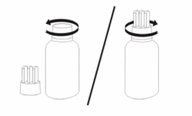 De acordo com a bula, o aplicador possui um sistema anti-vazamento que faz com que o medicamento não derrame e nem vaze na hora do armazenamento.