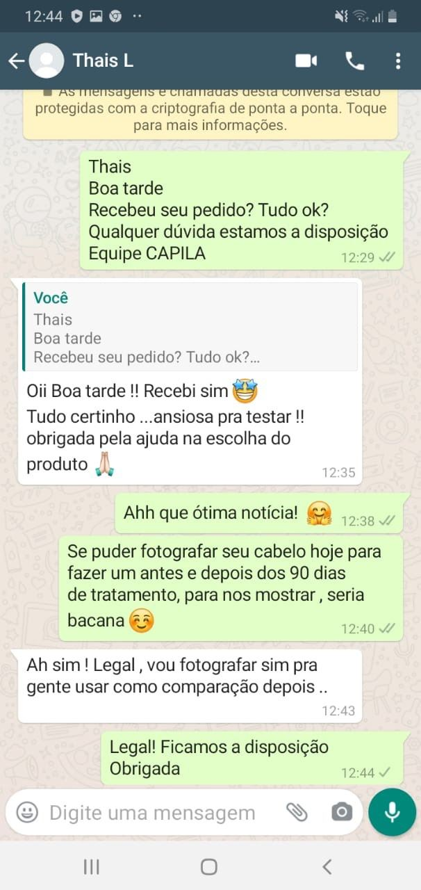 depoimento capila care funciona via whatsapp