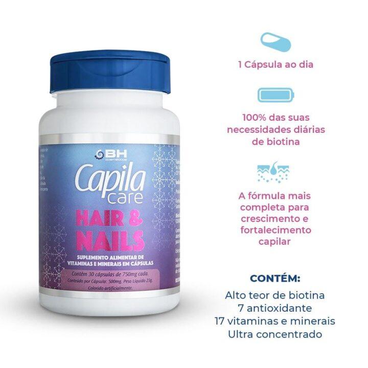 Benefícios da vitamina para cabelo capila
