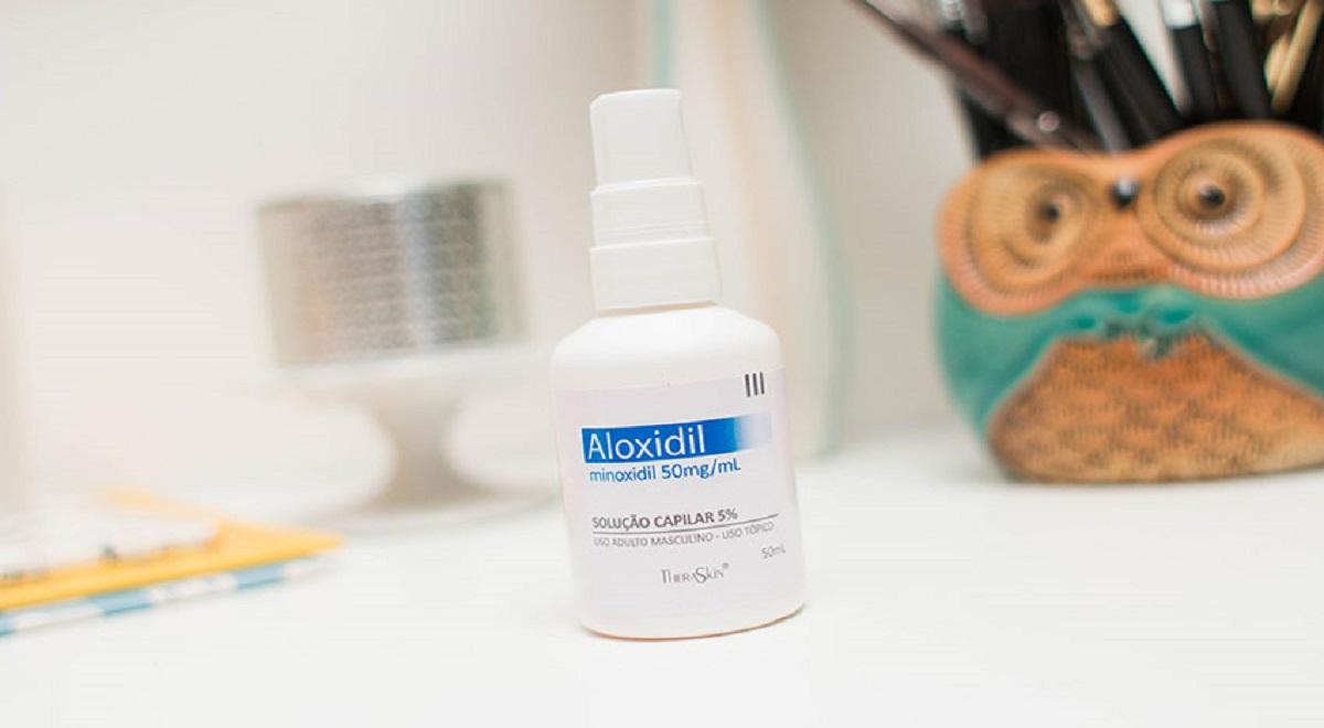 frasco de aloxidil