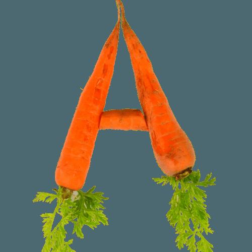 vitamina a em cenouras